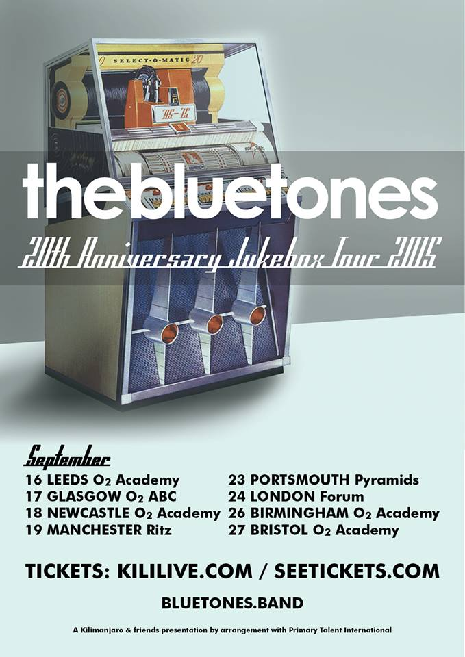 The Bluetones 20th Anniversary Tour Poster